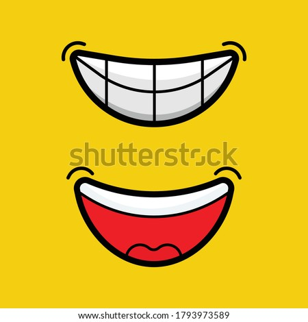 happy expressions smile and laugh, smile and laugh every day, face emoji emotions symbols lips laugh laugh images lips mouth tongue and teeth vector design simple