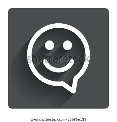 happy face chat speech bubble