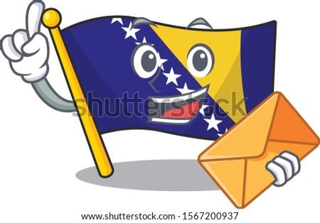 happy face flag bosnia mascot