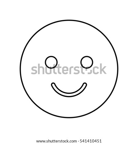 happy face isolated icon vector illustration design
