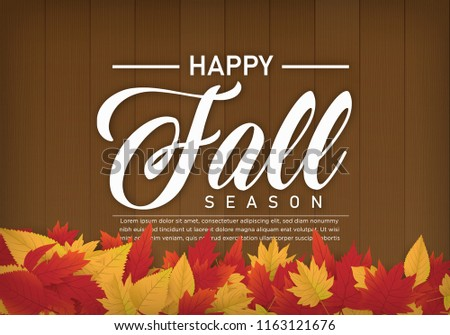 happy fall autumn season