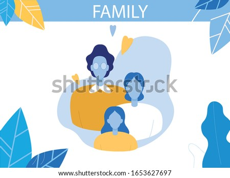 happy family characters flat