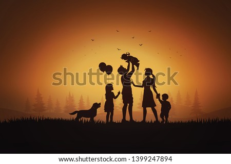 happy family  day father mother