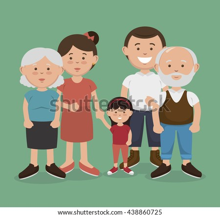 happy family design, vector illustration eps10 graphic