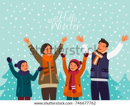 happy family having fun outdoor