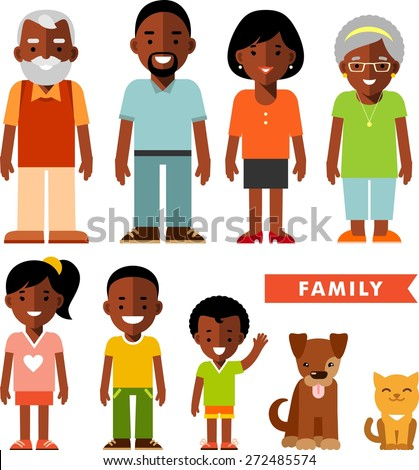 happy family of seven african