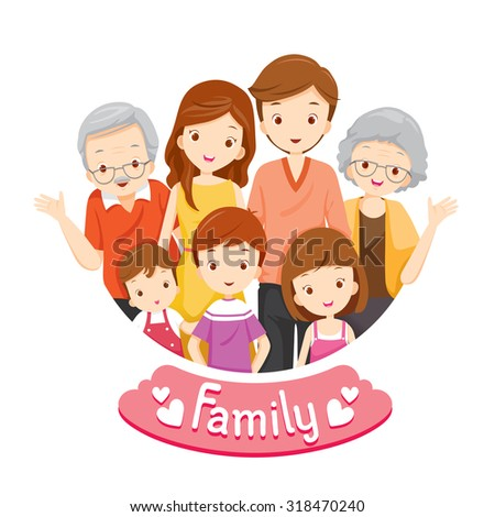 Happy Family Portrait, Relationship, Togetherness, Vacations, Holiday, Lifestyle