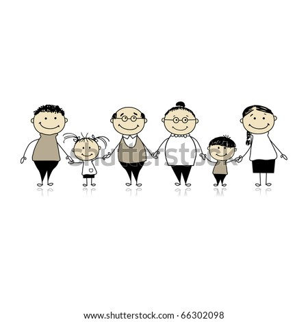 Happy family together - parents and children