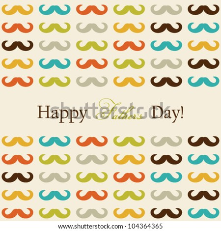 Happy Father's Day card with mustache