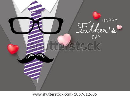 happy father's day concept