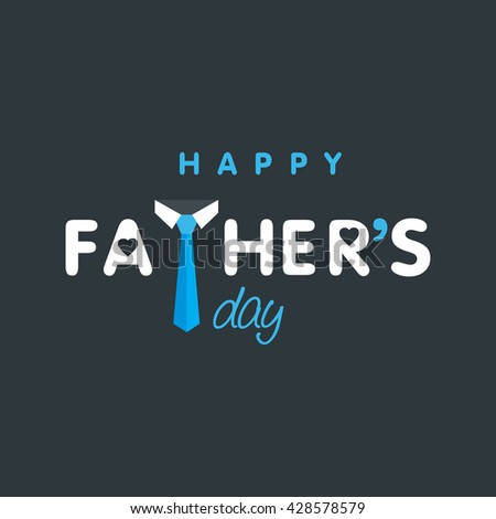 Happy Father\'s day creative logo