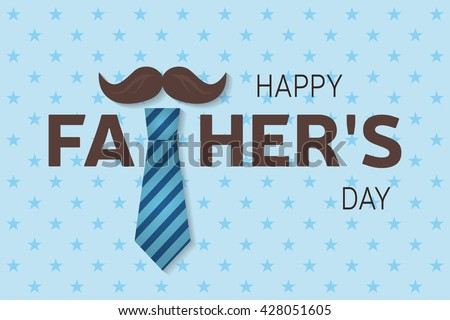 Happy Father's Day. Father's Day Vector. Father's Day Drawing. Father's Day Image. Father's Day Graphic. Father's Day Art. Father's Day card. Father's Day poster.  Vector illustration.