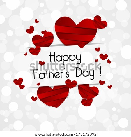 Happy Father's Day Greeting Card vector illustration #173172392