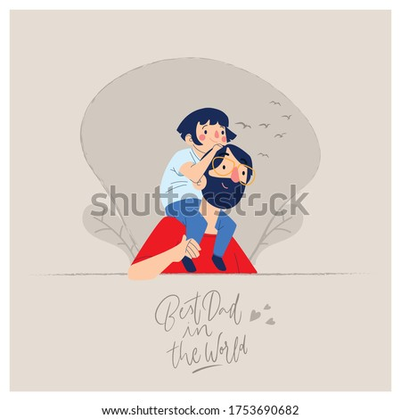 Happy Father's Day minimal vector design _ Happy Father's Day creative design-Happy Father's day vector design