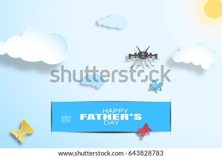 happy father's day wide vector