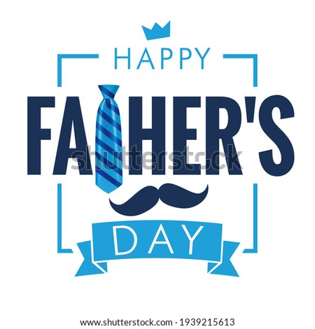 Happy Fathers Day calligraphy quote light banner. Happy father's day vector lettering background. Dad my king illustration