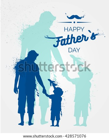 happy fathers day flyer  banner