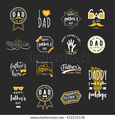stock-vector-happy-fathers-day-greeting-color-overlays-on-black-background-dad-felicitation-patch-label-badge