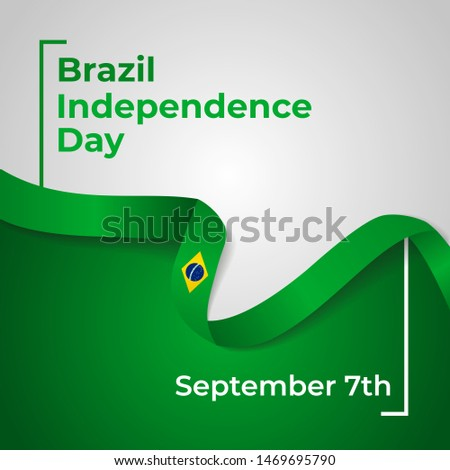 Happy Federative Republic of Brazil Independence Day Vector Design Template Illustration Foto stock ©
