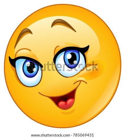 happy female emoticon
