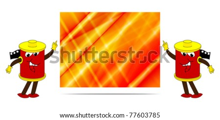 happy film with colorful banner