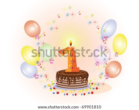 Happy First Birthday Cake