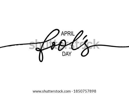 happy fool's day vector line