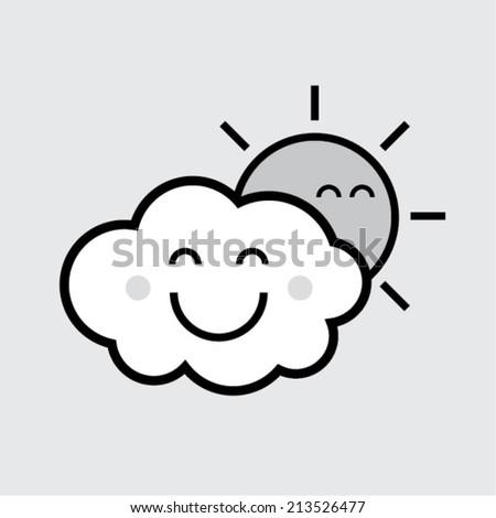 happy friends   cloud   sun