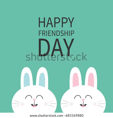happy friendship day two white