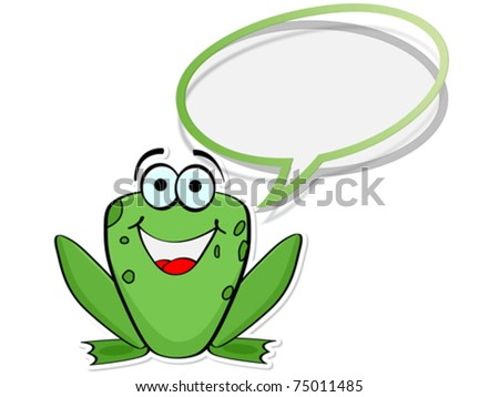 happy frog chatting
