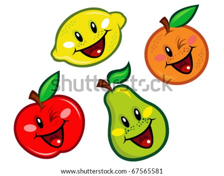 Happy Fruits Characters