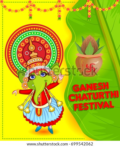 Happy Ganesh Chaturthi festival of India