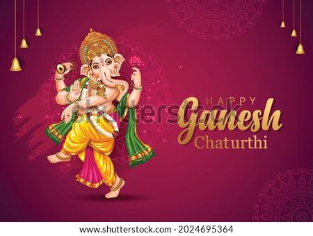 happy Ganesh Chaturthi greetings. vector illustration design.