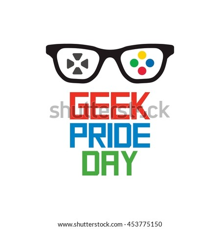 happy geek pride day vector