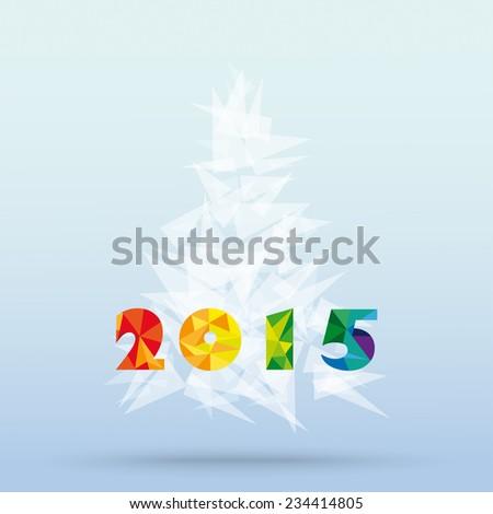 Happy  2015 Geometric card design
