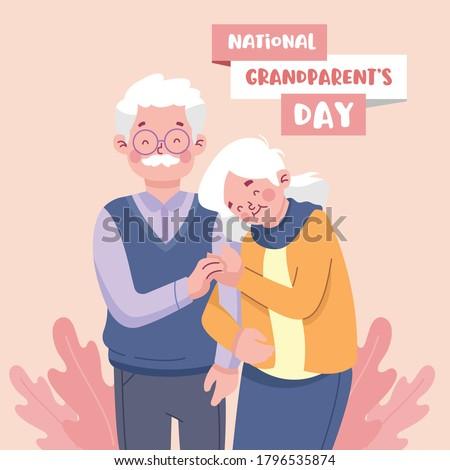 Happy Grandparents Day Flat Design Illustration