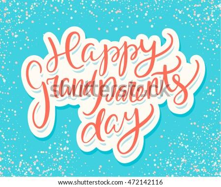 Happy grandparents day vector download free vector art stock happy grandparents day greeting card m4hsunfo