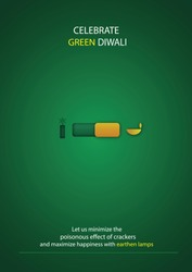 Happy Green Diwali Celebration background.