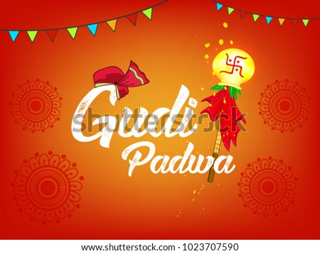 Colorful new year gudi padwa download free vector art stock happy gudi padwa marathi new year lunar new year festival editable vector m4hsunfo