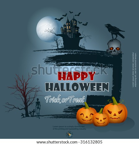 happy halloween background with