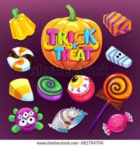 happy halloween candy set