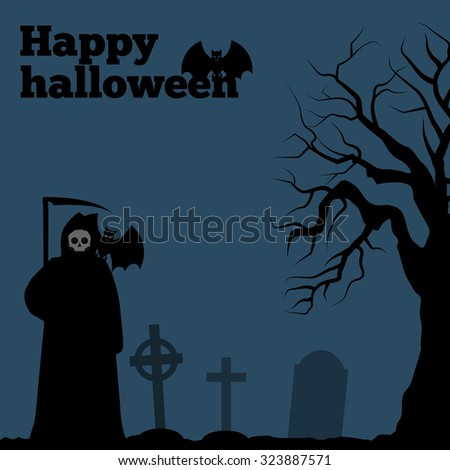 happy halloween card  death