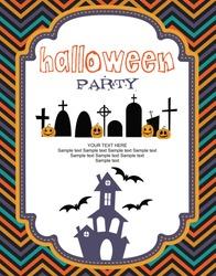 happy halloween card design. vector illustration