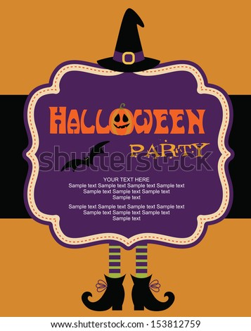 happy halloween card design. vector illustration