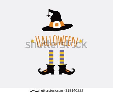 happy halloween card design...