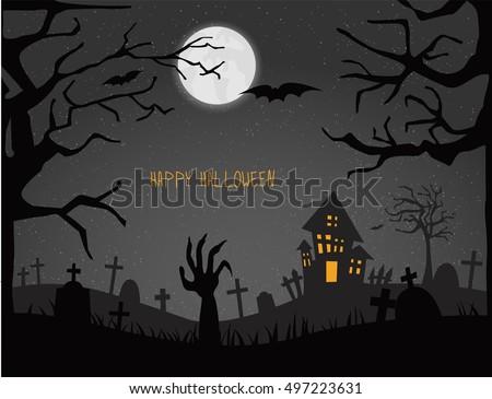 happy halloween cardvector