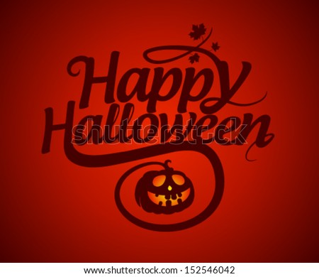 happy halloween card with