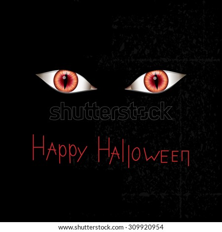 happy halloween card with red