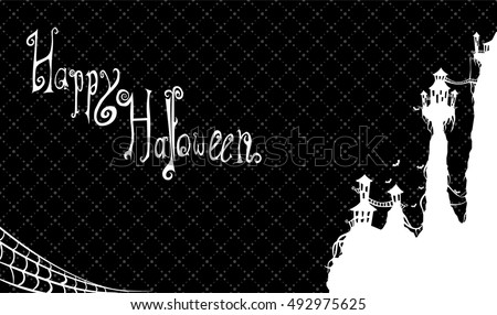 happy halloween castle gift card