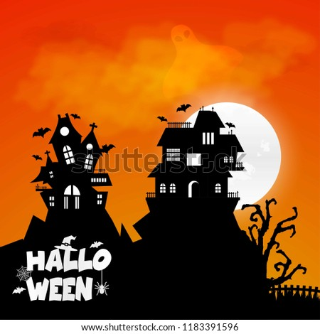 Happy Halloween design element with typography